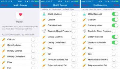تطبيق Calorie Counter & Diet Tracker من MyFitnessPal يوفر دعم HealthKit على نظام iOS 8